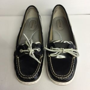 Sperry Top-Sider Angelfish Black Loafers Boat Shoe